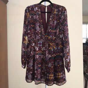 Forever 21 Long-Sleeve Floral Dress (NEW)
